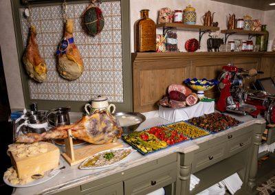 Pulcinella Authentic Italian Restaurant Cold Antipasto Station