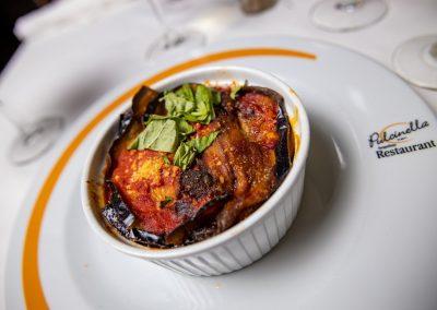 Pulcinella Authentic Italian Restaurant Eggplant Parmigiana