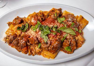 Pulcinella Authentic Italian Restaurant Paccheri al Ragu