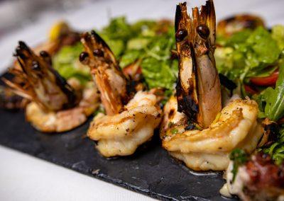 Pulcinella Authentic Italian Restaurant Grilled Scampi