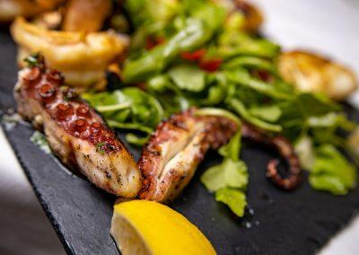 Pulcinella Authentic Italian Restaurant Grilled Octopus