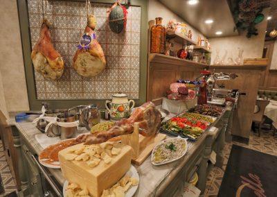 Pulcinella Authentic Italian Restaurant Antipasto Station